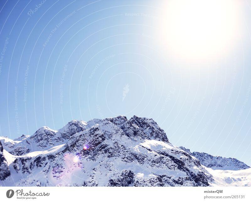 oben scheint's die Sonne. Natur Sonne Landschaft Berge u. Gebirge kalt Umwelt frisch ästhetisch Urelemente Alpen Österreich Schneelandschaft Winterurlaub Hochgebirge alpin Schneedecke