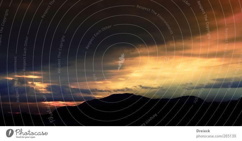 es ist soweit Umwelt Natur Landschaft Urelemente Erde Luft Himmel Wolken Gewitterwolken Nachthimmel Horizont Sonne Sonnenaufgang Sonnenuntergang Sonnenlicht
