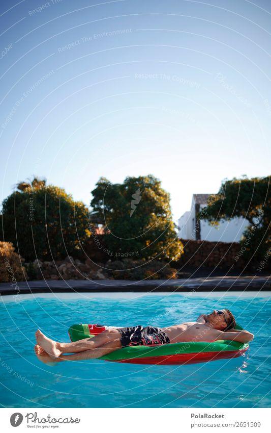 #AS# PoolBOY II Lifestyle Glück Mensch maskulin Junger Mann Jugendliche Zufriedenheit Schwimmen & Baden Schwimmbad genießen Luftmatratze Erholung Garten