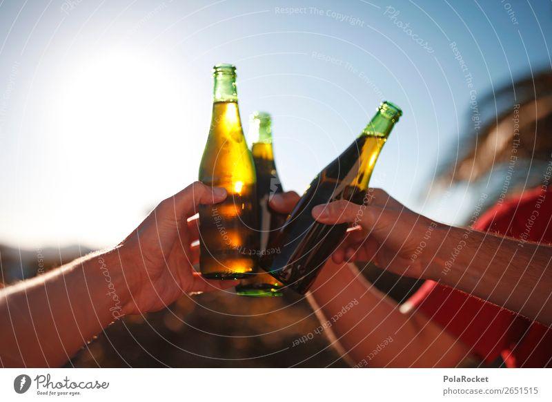 #AS# cheers guys 3 Mensch ästhetisch Bier Biergarten Bierflasche Bierzelt Zuprosten Getränk Party Alkohol genießen Ferien & Urlaub & Reisen Erholung Partygast