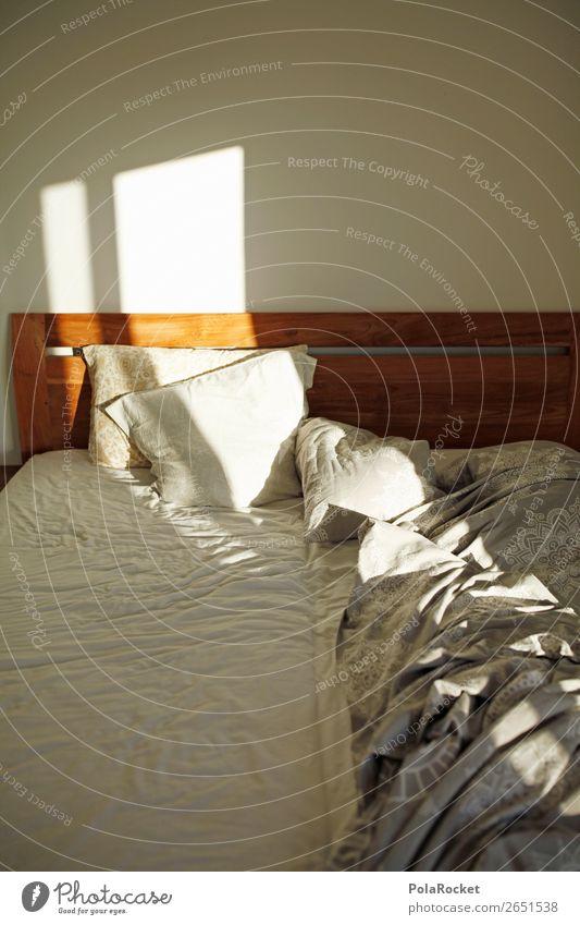 #AS# good morning Zeichen ästhetisch Bett Bettwäsche Bettdecke Bettlaken Bettgestell Kissen schlafen Erholung Schlafzimmer bequem Sonnenstrahlen Guten Morgen