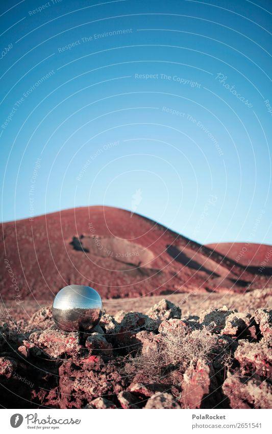 #AS# MurmelLand Kunst ästhetisch Landschaft Mars Marslandschaft Marsianer Mond Fuerteventura Vulkan Vulkankrater steinig Berge u. Gebirge Außerirdischer UFO