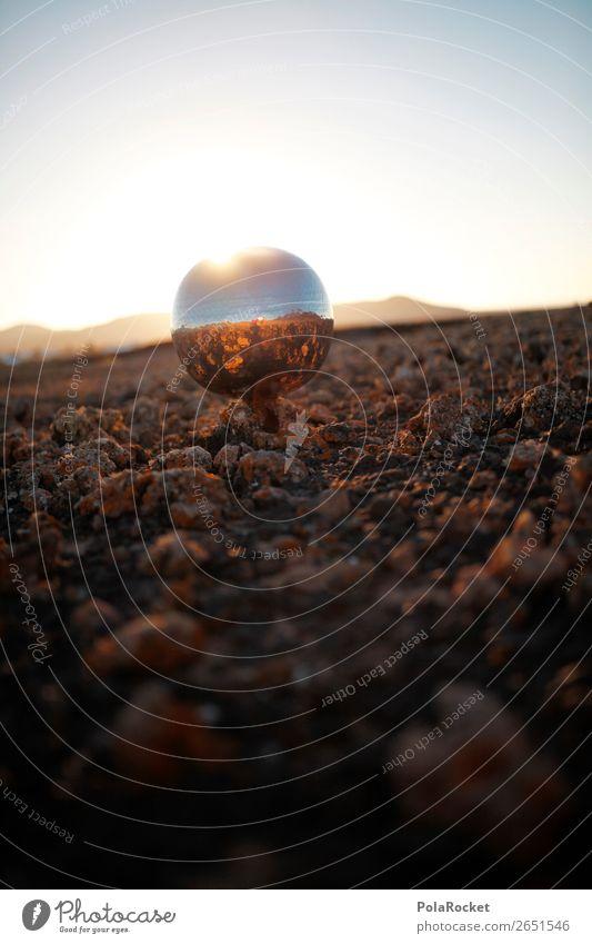 #AS# außerirdisch Kunst ästhetisch UFO Außerirdischer außergewöhnlich außerorts Discokugel Mars Marslandschaft Marsianer steinig Licht Farbfoto Gedeckte Farben