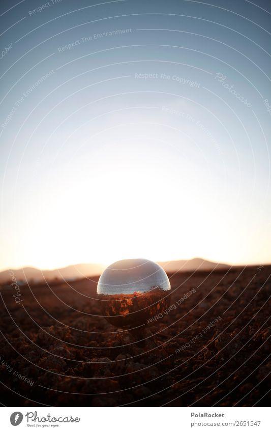 #AS# kleines Raumschiff Discokugel Kunst Kunstwerk Kitsch Raumfahrt Raumfahrzeuge Raumfahrthelm Kugel silber Reflexion & Spiegelung Mars Weltall Epik fremdartig