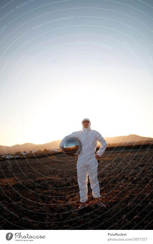 #AS# Ready For TakeOff Kunst Kunstwerk ästhetisch Kitsch Unsinn Außerirdischer außerirdisch außergewöhnlich Raumanzug Helm Pionier entdecken Planet Mars