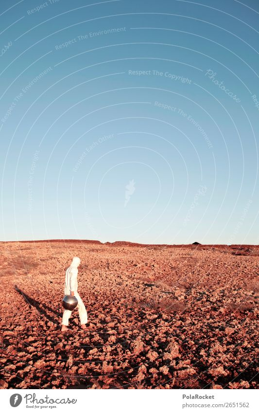 #AS# Where To Go? Kunst Kunstwerk ästhetisch Mars Marslandschaft Astronaut Astrofotografie dumm verkleidet außergewöhnlich Kostüm weiß Männlein entdecken