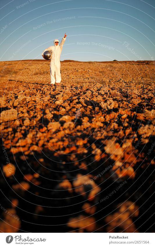 #AS# MoonMan Kunst ästhetisch Mars Marslandschaft Marsianer Mondlandschaft Kostüm Karnevalskostüm Astronaut Astronomie Raumfahrthelm karg steinig Zukunft
