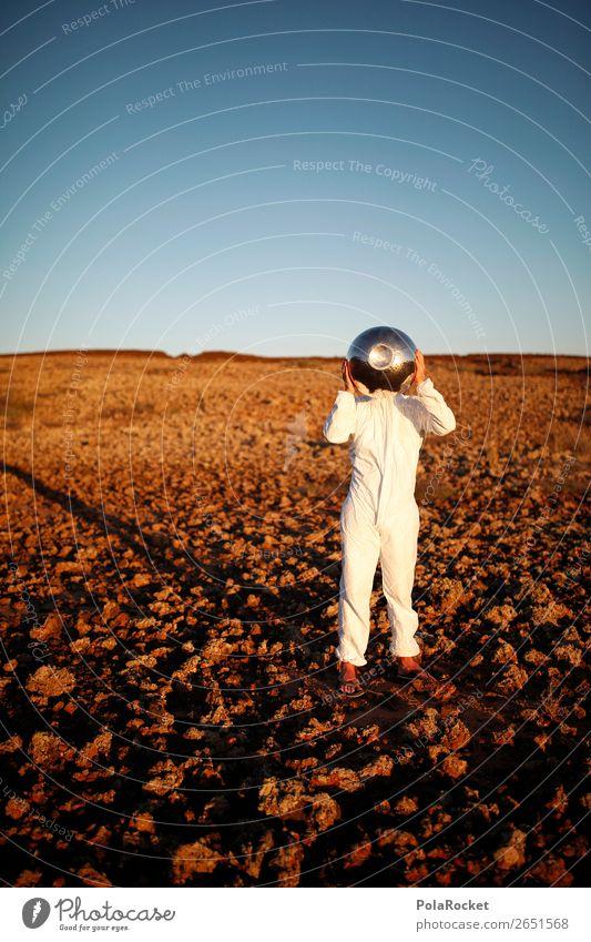 #AS# Ungetüm mit Hobbitfingern Kunst ästhetisch Astronaut Astronomie Kostüm Karnevalskostüm Helm Außerirdischer außerirdisch Mars Marslandschaft Marsianer Mond