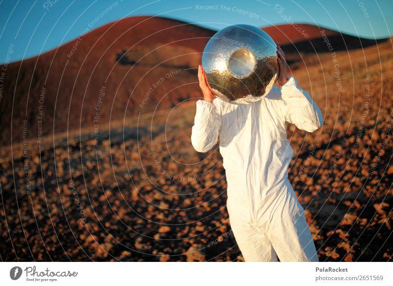 #AS# SalatschüsselHobbit Kunst Kunstwerk Gemälde ästhetisch Astronaut Astronomie Weltall Mars Marslandschaft Marsianer Außerirdischer außergewöhnlich