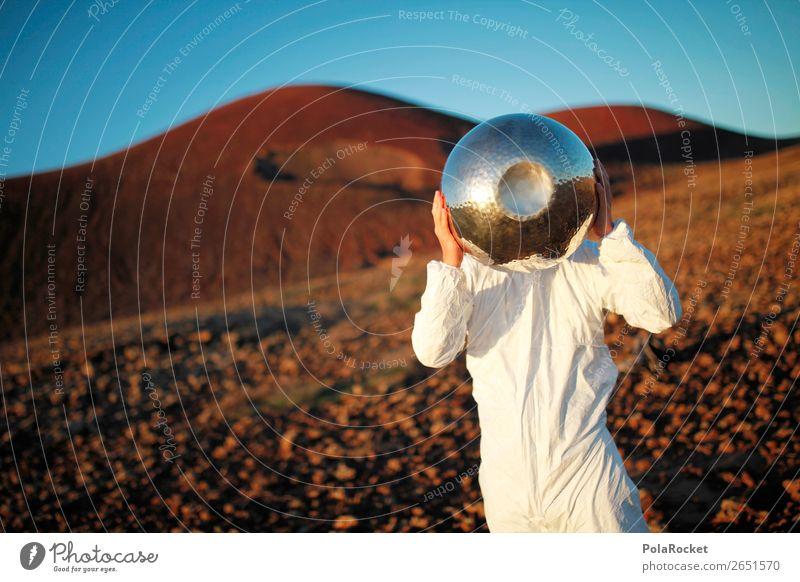 #AS# ALIEN Kunst ästhetisch Astronaut Astronomie Weltall Mars Marslandschaft Marsianer Außerirdischer Salatschüssel Fuerteventura Kostüm fremd Fremder