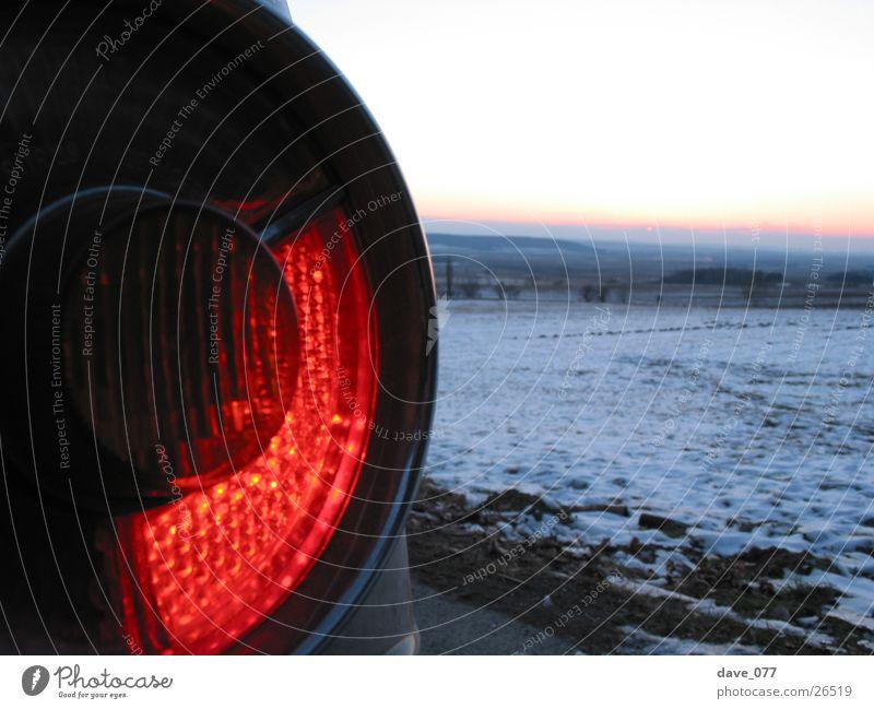 nullzwo Winter Schnee Verkehr Rücklicht Bremslicht Heckleuchte