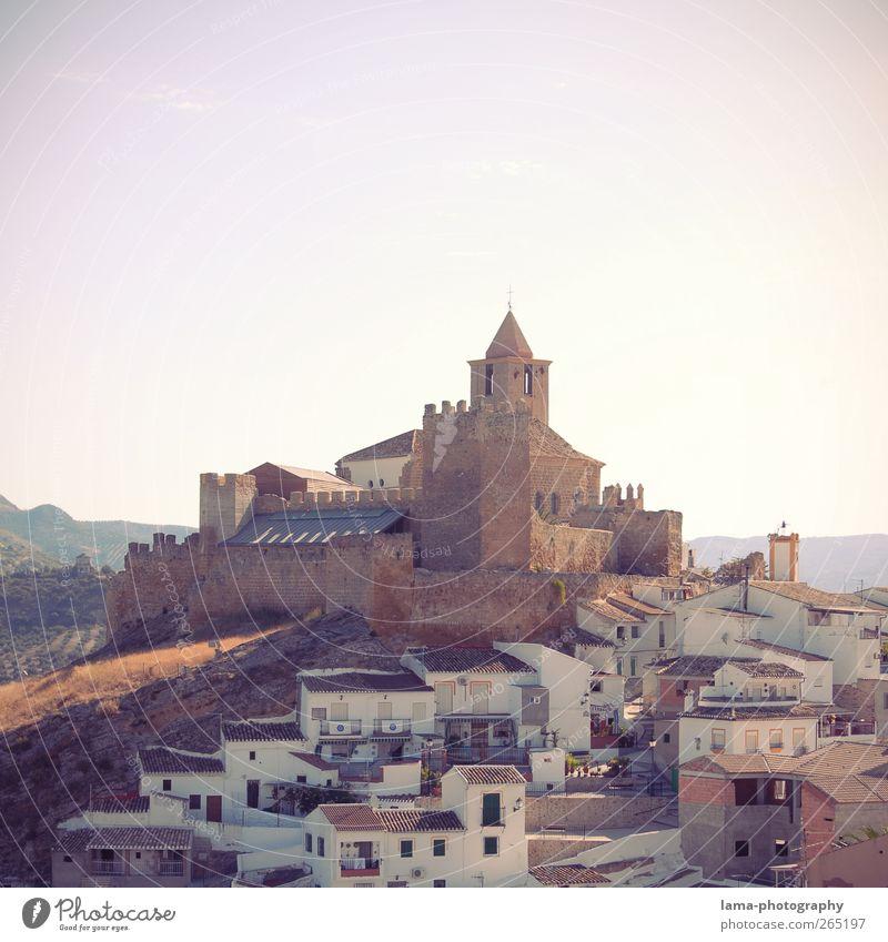 Castillo de Hisn-Ashar [XXXV] Tourismus Sightseeing Iznajar Iznájar Cordoba Andalusien Spanien Dorf Kleinstadt Altstadt Haus Kirche Burg oder Schloss Turm