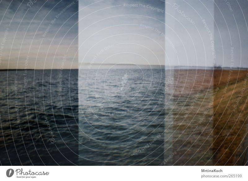 waves. Umwelt Natur Landschaft Himmel Sommer Herbst Wellen Küste Seeufer Strand Ostsee Meer Moor Sumpf Lebensfreude Frühlingsgefühle Farbfoto Gedeckte Farben