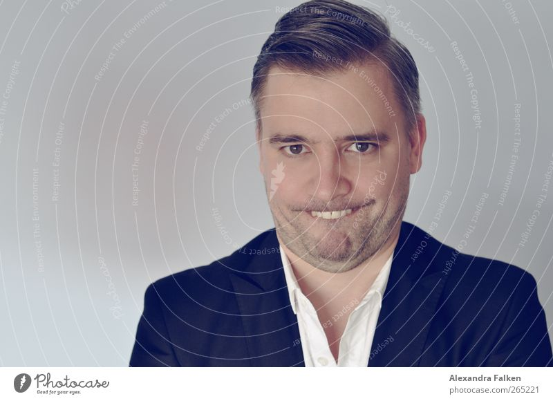 Hase im Frühling II. Mensch Mann Freude Erwachsene Leben lustig Stimmung maskulin außergewöhnlich einzigartig Anzug Gesichtsausdruck frech Clown Grimasse