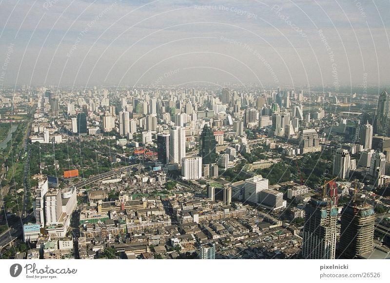 Bangkok Thailand Vogelperspektive Architektur Graffiti Stadt