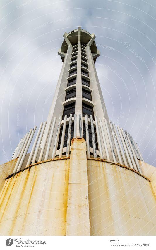 4,3,2... blau weiß schwarz Architektur braun modern Glas groß Beton Spanien Leuchtturm