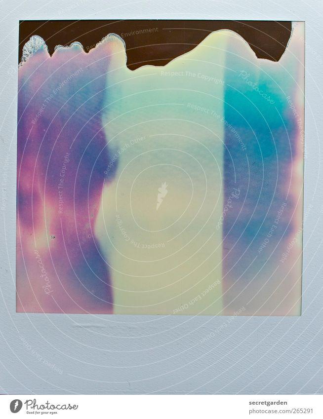 an impossible job. Kunstwerk Gemälde kalt retro trashig blau gelb rot Angst bizarr Inspiration modern Rätsel Surrealismus Verfall Vergänglichkeit fehlerhaft