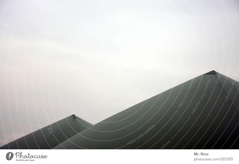 spitze Energiewirtschaft Erneuerbare Energie Industrieanlage Spitze Klimawandel Himmel biogasanlage Strukturen & Formen Schutzdach Bespannung grau Kontrast