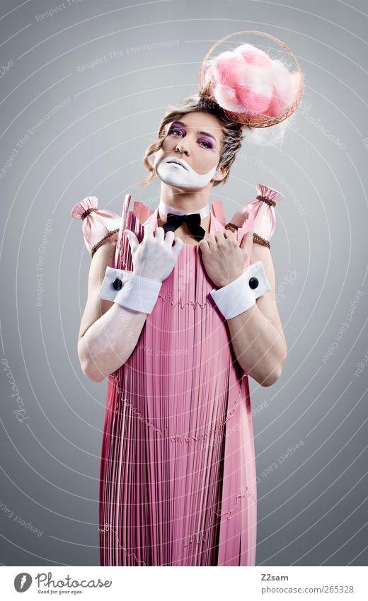 Pink Diva Jugendliche schön Erwachsene feminin Haare & Frisuren Stil Mode Kraft blond rosa elegant Junge Frau 18-30 Jahre Coolness einzigartig Kleid