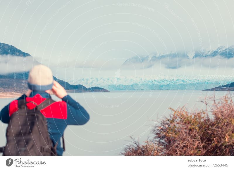 Der Perito Moreno Gletscher Tee Erholung Ferien & Urlaub & Reisen Tourismus Berge u. Gebirge Mensch Frau Erwachsene Mann Freundschaft Natur Landschaft Wolken