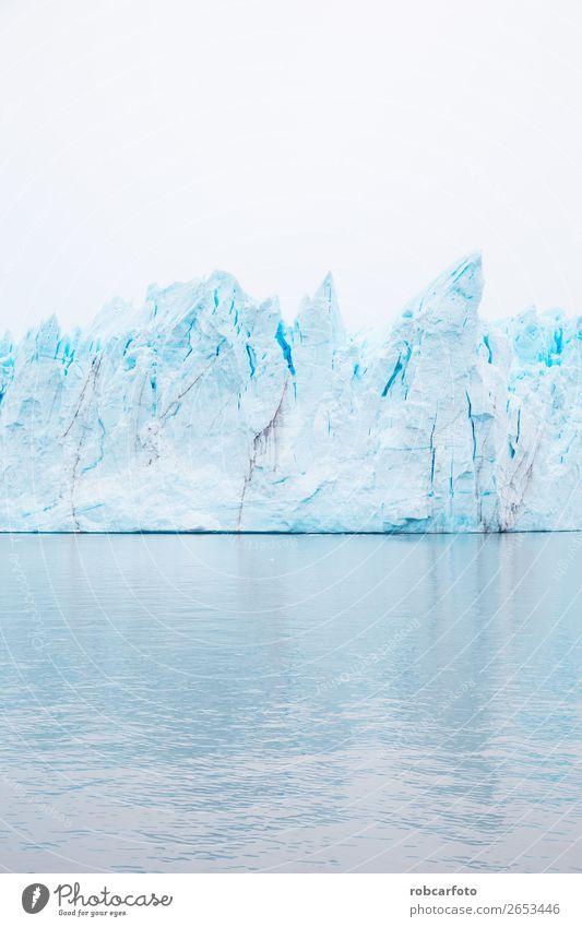 Der Perito Moreno Gletscher Ferien & Urlaub & Reisen Winter Schnee Berge u. Gebirge Natur Landschaft Himmel Park Hügel See blau weiß moreno Argentinien