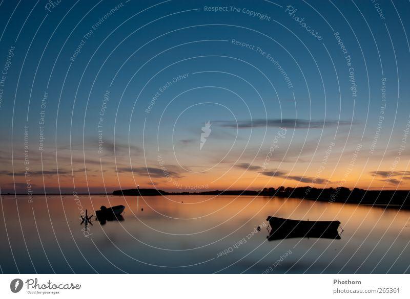 absolute Entspannung Himmel Natur blau Wasser Ferien & Urlaub & Reisen Meer Sommer Erholung Gefühle Wärme Küste Glück Horizont Deutschland Zufriedenheit gold