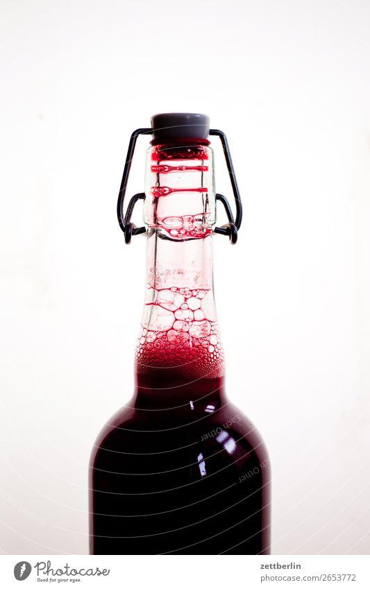 Pflaumensaft bügelverschluß Flasche Getränk Glasflasche Saft Saftflasche trinken Verschluss Blase Schaum Ernte Küche Essen zubereiten kochen & garen Vorrat voll