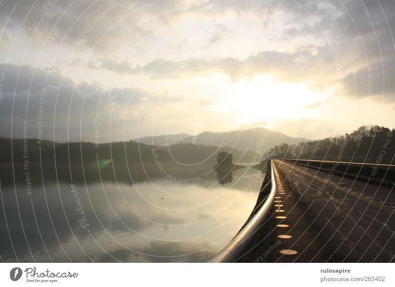 Appalachian Trail (untitled) #2 Himmel Natur Ferien & Urlaub & Reisen Wasser Sonne Einsamkeit Landschaft ruhig Wolken Ferne Berge u. Gebirge Freiheit See