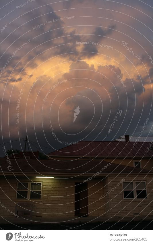 Appalachian Trail (untitled) #3 Himmel Sommer Wolken Luft Wetter Angst gefährlich bedrohlich violett Unwetter Gewitter schlechtes Wetter Gewitterwolken