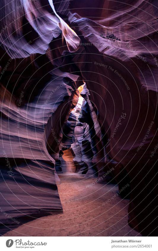 Antelope Canyon Ferien & Urlaub & Reisen Tourismus Ausflug Abenteuer Expedition wandern Natur Urelemente Erde Sand Felsen Berge u. Gebirge Schlucht braun orange