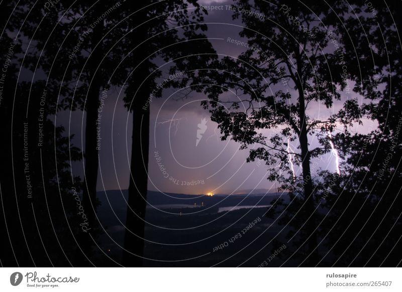 Appalachian Trail (untitled) #4 Himmel Natur schwarz Wald Landschaft dunkel Berge u. Gebirge Luft Regen Wetter Angst gefährlich Urelemente bedrohlich Hügel violett