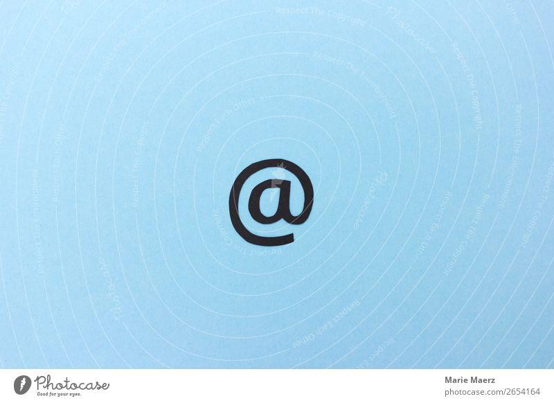 E-Mail @-Zeichen Telekommunikation Internet Kommunizieren schreiben einfach Unendlichkeit modern nerdig blau Tugend Interesse Dienstleistungsgewerbe Adresse