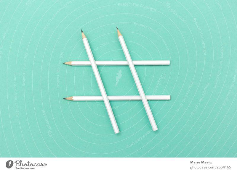 Stifte Hashtag sprechen Schlagwort Arbeit & Erwerbstätigkeit Kommunizieren Ordnung einfach Zeichen Neugier Information Bildung Netzwerk Internet Suche