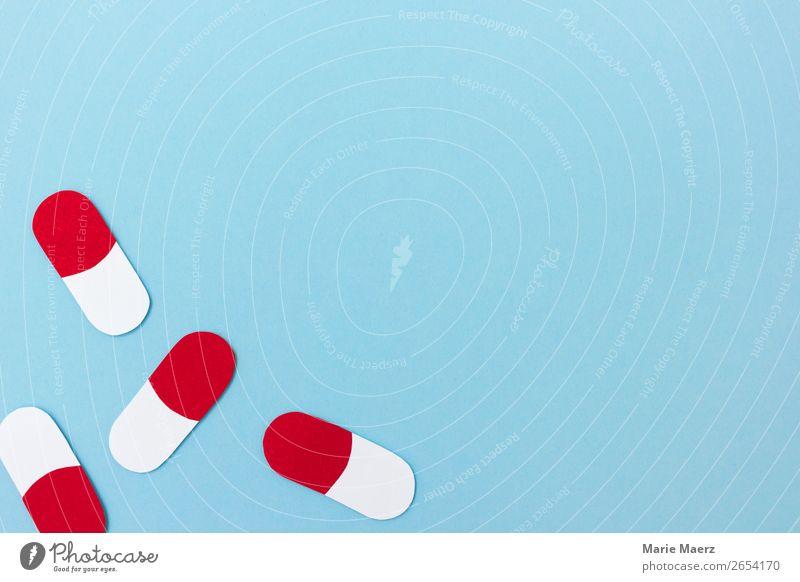 Medizin Hintergrund mit Pillen-Kapseln Wissenschaften Beratung fallen gut klein neu blau Tugend Schutz Fortschritt Gesundheit Gesundheitswesen innovativ Zukunft