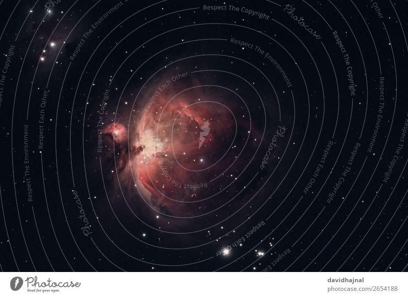 Orionnebel Teleskop Technik & Technologie Wissenschaften Fortschritt Zukunft High-Tech Astronomie Raumfahrt Kunst Kunstwerk Umwelt Natur Himmel nur Himmel
