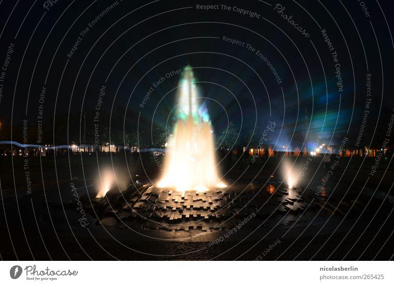 Ein Sommernachtstraum schön Wasser dunkel Gefühle Bewegung Berlin Kunst Feste & Feiern Stimmung hell träumen Park Freizeit & Hobby Platz Wandel & Veränderung
