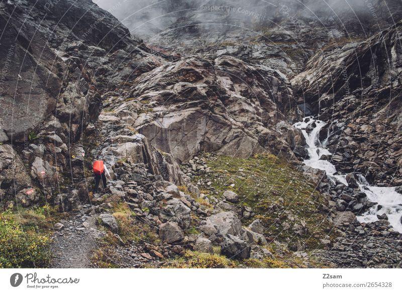 Klettersteig zur Braunschweiger Hütte | E5 Abenteuer Expedition wandern Mensch Natur Landschaft Wolken Herbst schlechtes Wetter Nebel Felsen Alpen
