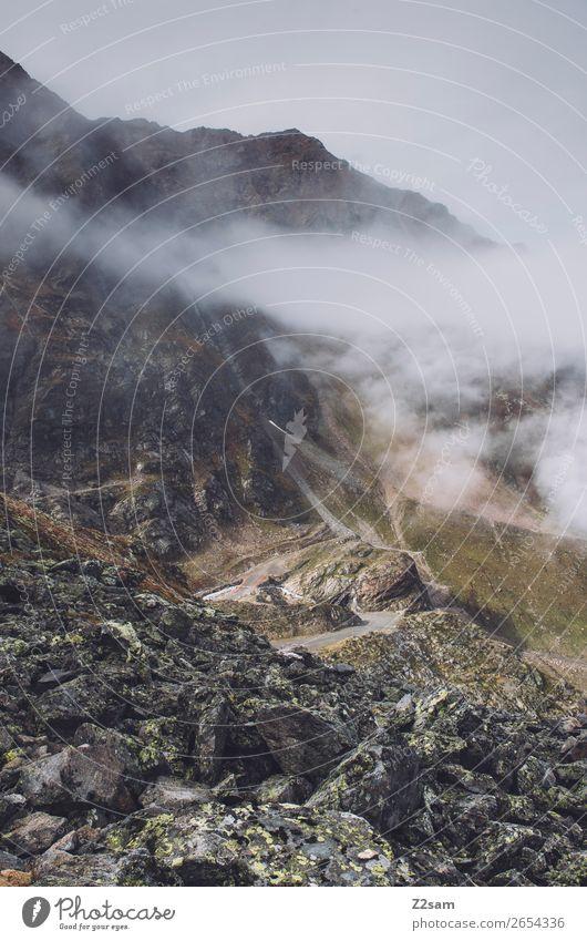 Aufstieg zur Braunschweiger Hütte | E5 Abenteuer Berge u. Gebirge wandern Natur Landschaft Wolken Nebel Felsen Alpen Gletscher gigantisch hoch natürlich