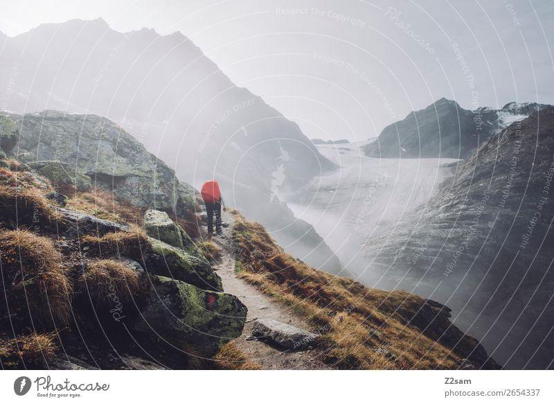 Aufstieg zur Braunschweiger Hütte | E5 Ferien & Urlaub & Reisen Abenteuer Expedition Berge u. Gebirge wandern Mensch Natur Landschaft Herbst schlechtes Wetter