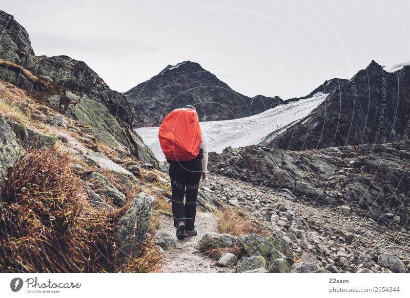 Aufstieg zur Braunschweiger Hütte | E5 Ferien & Urlaub & Reisen Abenteuer Expedition wandern Mensch Natur Landschaft Herbst Klima Klimawandel Felsen Alpen