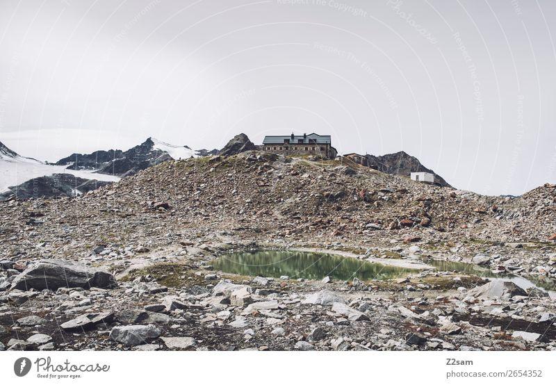 Braunschweiger Hütte | E5 Abenteuer Berge u. Gebirge wandern Natur Landschaft Herbst Eis Frost Schnee Alpen Gipfel Gletscher Gebirgssee hoch ruhig Einsamkeit