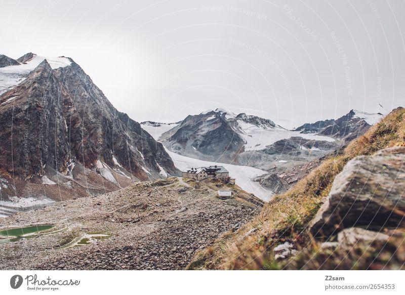Braunschweiger Hütte | E5 Berge u. Gebirge wandern Natur Landschaft Herbst Schnee Alpen Gipfel Gletscher gigantisch hoch natürlich ruhig Abenteuer Einsamkeit