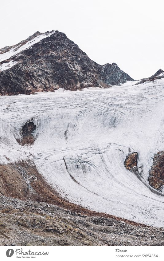 Rettenbachgletscher im Sommer | E5 Berge u. Gebirge Umwelt Natur Landschaft Herbst Klima Klimawandel Eis Frost Schnee Felsen Alpen Schneebedeckte Gipfel