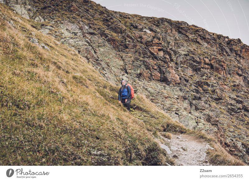 Pitztaler Jöchl | E5 Abenteuer wandern Mensch Natur Landschaft Herbst Alpen Berge u. Gebirge Gletscher warten gigantisch hoch sportlich selbstbewußt Kraft
