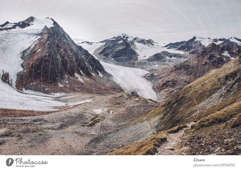 Braunschweiger Hütte | E5 Abenteuer Berge u. Gebirge wandern Umwelt Natur Landschaft Herbst Eis Frost Alpen Gipfel Gletscher gigantisch hoch kalt natürlich
