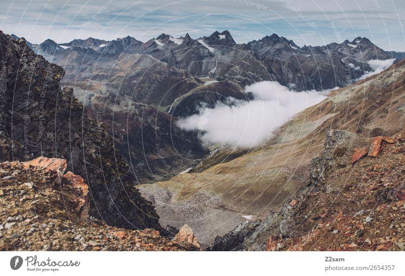 Lechtaler Alpen | E5 Berge u. Gebirge wandern Natur Landschaft Wolken Herbst Klima Klimawandel Felsen Gletscher natürlich Abenteuer Freiheit Freizeit & Hobby