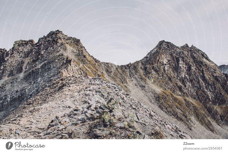 Pitztaler Jöchl | E5 Abenteuer wandern Umwelt Natur Landschaft Himmel Herbst Felsen Alpen Berge u. Gebirge Gipfel Gletscher gigantisch hoch natürlich Einsamkeit