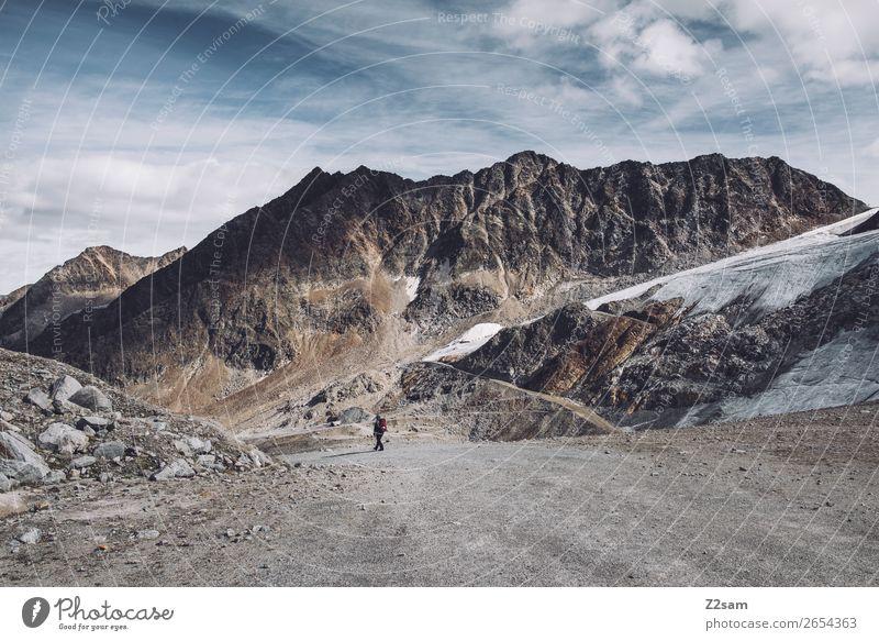 Sölden | Rettenbachgletscher | E5 Abenteuer Expedition wandern Mensch Natur Landschaft Herbst Alpen Berge u. Gebirge Gipfel Gletscher natürlich sportlich