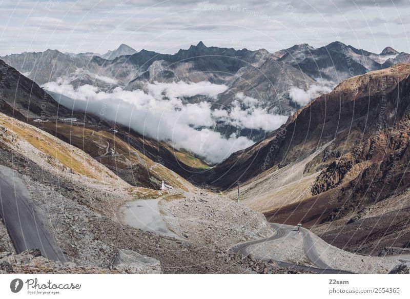 Rettenbachgletscher | Sölden | E5 Berge u. Gebirge wandern Natur Landschaft Wolken Herbst Alpen Gletscher Straße gigantisch hoch natürlich Idylle Klima