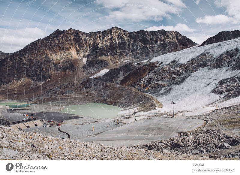 Rettenbachgletscher | Sölden | E5 wandern Natur Landschaft Herbst Eis Frost Schnee Alpen Berge u. Gebirge Gipfel Gletscher Straße gigantisch trist Einsamkeit